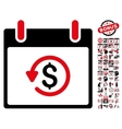 Refund Calendar Day Flat Icon With Bonus vector image vector image