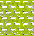 seamless pattern dog profile paw trace isolated vector image