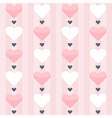 Seamless pattern with pink and white hearts on a vector image vector image
