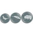 set croatian money kuna silver coins vector image