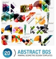 Set of geometric backgrounds vector image vector image