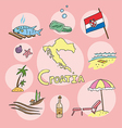 set of national profile of the croatia vector image vector image