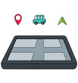 set of navigation equipment vector image