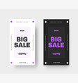 set white and black templates for mobile vector image vector image