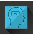silhouette profile business laptop concept vector image vector image