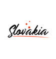 slovakia country typography word text for logo vector image vector image