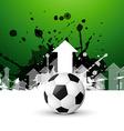 stylish football background vector image vector image