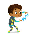 surprised african-american boy wearing colorful vector image vector image