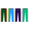 types of sweatpants set simple icons of sprt vector image