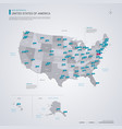 united states of america usa map with infographic vector image