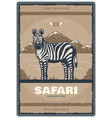 vintage poster for safari hunt club vector image vector image