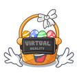 virtual reality easter basket miniature the shape vector image vector image