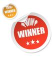 winner stick vector image vector image