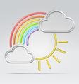 wire rainbow vector image vector image