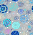 winter seamless background with snowflakes vector image