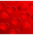 red heart seamless background pattern vector image