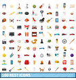 100 rest icons set cartoon style vector image vector image