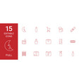 15 full icons vector image vector image