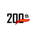 200th anniversary abstract logo two vector image vector image