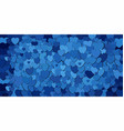 abstract background with blue hearts vector image