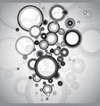 abstract black and white circles vector image vector image