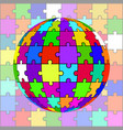 abstract colorful globe from puzzles vector image