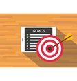 achieve goal by checklist vector image