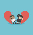 african business break up relationship broken vector image