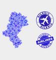 airplane composition silesian voivodeship vector image vector image
