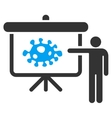 Bacteria Lecture Icon vector image vector image