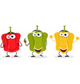 bell pepper character vector image vector image