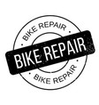 bike repair rubber stamp vector image vector image