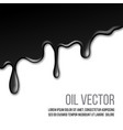 black paint dripping isolated on white background vector image