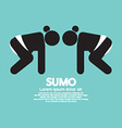 Black Symbol Graphic Sumo Fighting vector image
