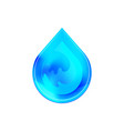 blue shiny water drop design template clean water vector image vector image