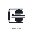 body scan isolated icon simple element from vector image vector image