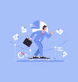 businessman riding on skateboard on business vector image