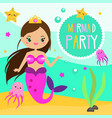 children and kids holiday party invitation design vector image vector image