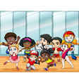Children in different sport costumes vector image vector image