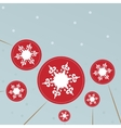Christmas background with snowflakes lollipops vector image