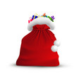 christmas open bag of santa claus isolated on vector image