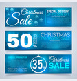 christmas sales banners winter and new year vector image vector image