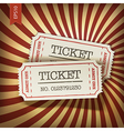 Cinema tickets on retro rays background vector | Price: 1 Credit (USD $1)