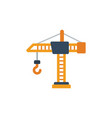 construction crane building crane crane tower icon vector image