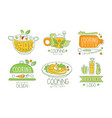 cooking with love logo design collection vector image vector image