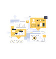 development process interface design vector image