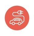Electric car thin line icon vector image
