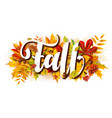 fall composition with fallen leaves vector image vector image