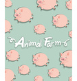 Farm animal with pigs background vector image vector image