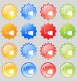 Fishing icon sign Big set of 16 colorful modern vector image